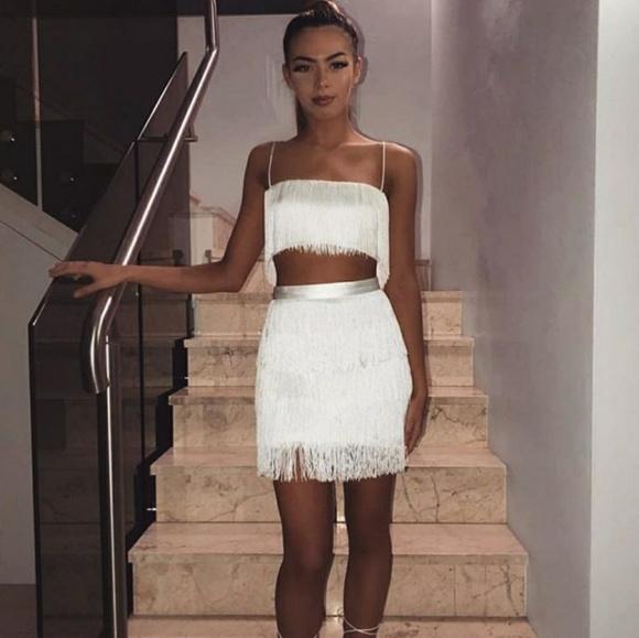 443fb49eff4a9 Meshki Sofia Fringe Crop Top   Skirt Set